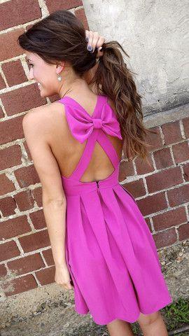 Magenta Bow Dress