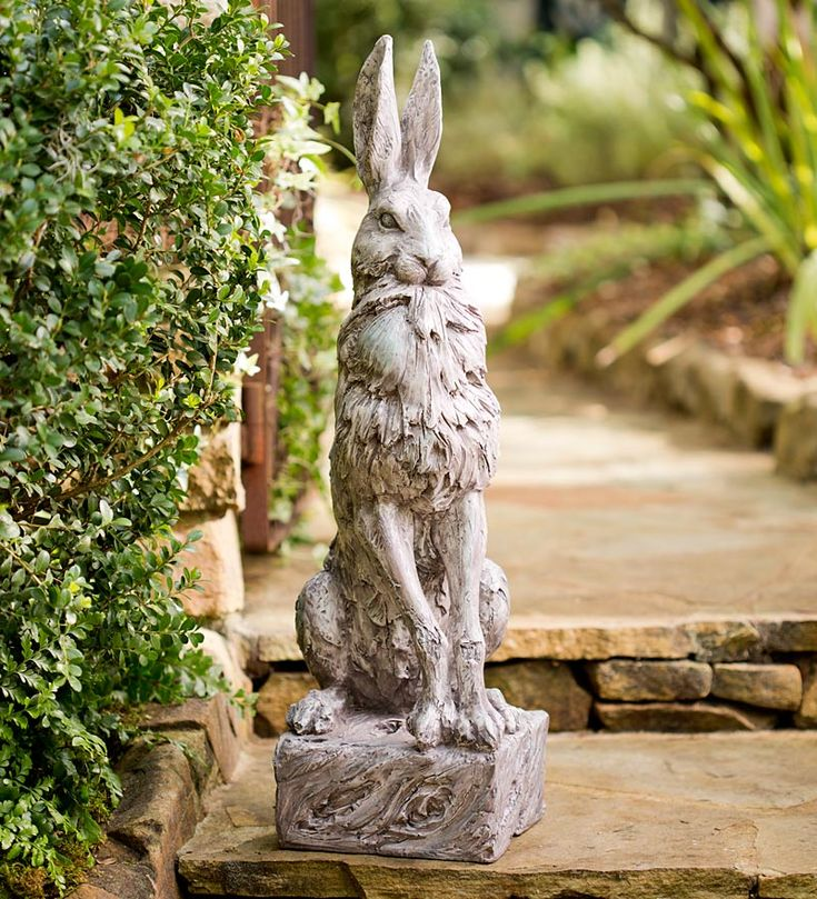 Proud Hare Garden Statue from http://www.windandweather.com/garden-sculptures/proud-hare-garden-statue.htm