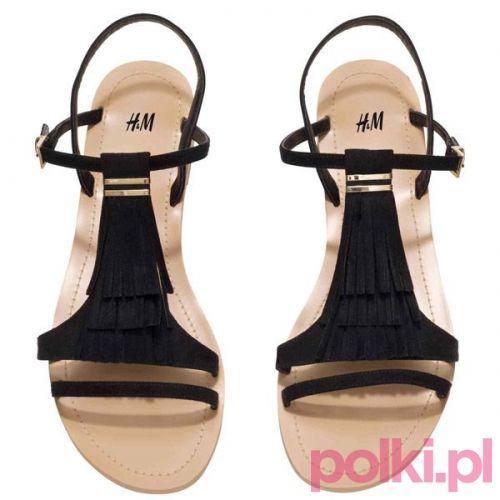 Czarne sandałki H&M, cena