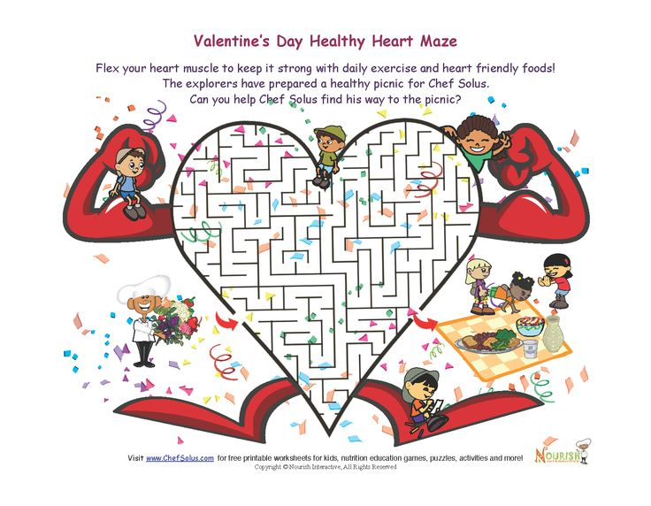 Challenge your kids to a hearthealthy Valentine's Day