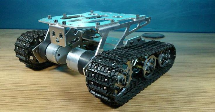 DIY 298 Сплава Бак Шасси умный автомобиль гусеничный шасси caterpillar транспорт танки робот шасси купить на AliExpress