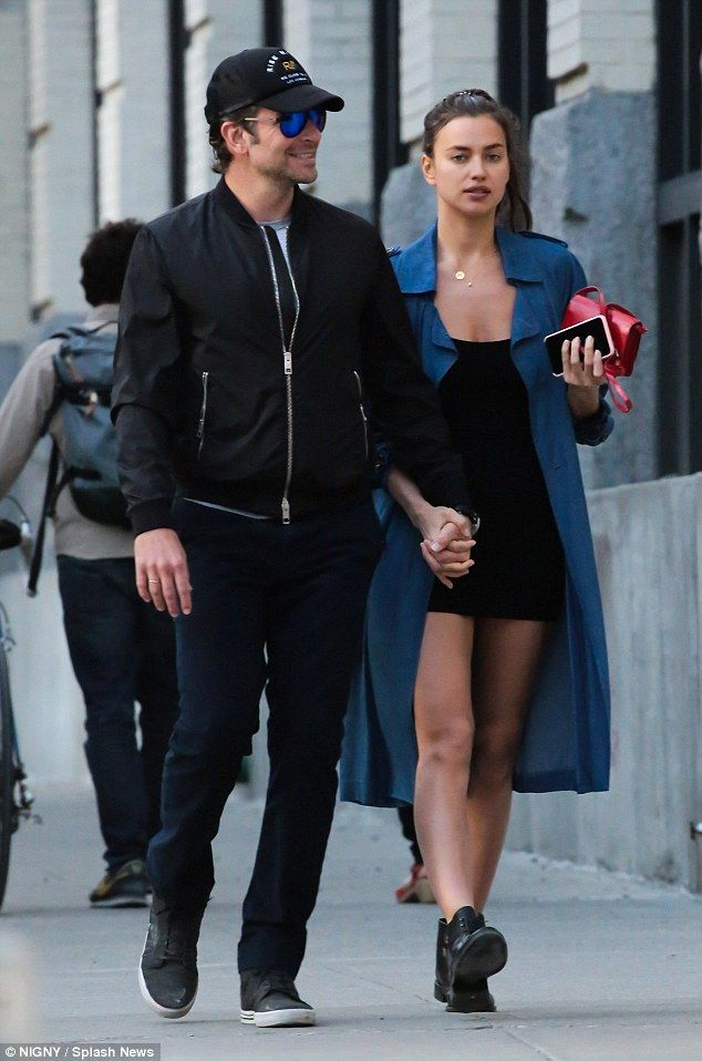 Smitten: Bradley Cooper and Irina Shak couldn't hide their feelings for each other as they strolled holding hands in New York City on Tuesday
