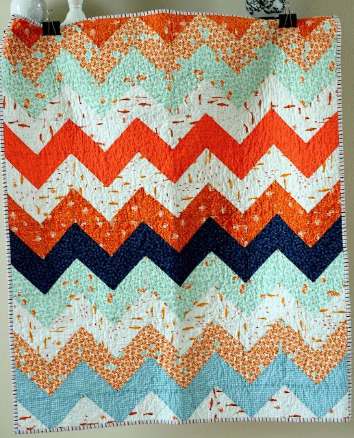 Maybe I could make this....: Chevron Patterns, Zig Zag, Chevron Quilts, Quilts Patterns, Baby Quilts, Zag Quilts, Quilts Kits, Zigzag, Quilts Tutorials