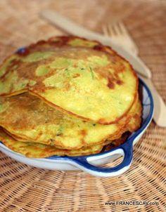 Pancake con farina di ceci e zucchine