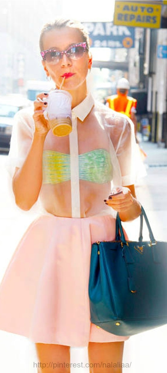 Street style - mirror sunglasses and lemonade top ♡♡♡♡♡♡♡♡♡♡