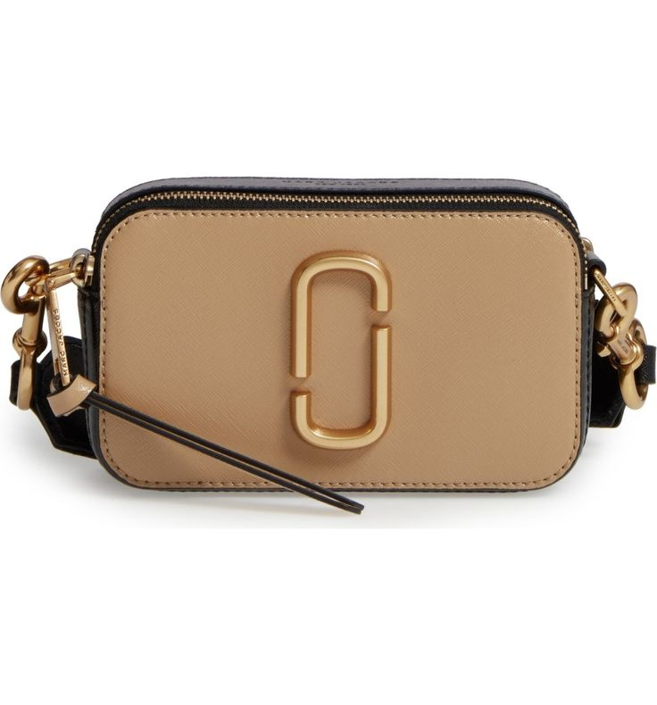 Main Image - MARC JACOBS Snapshot Leather Crossbody Bag