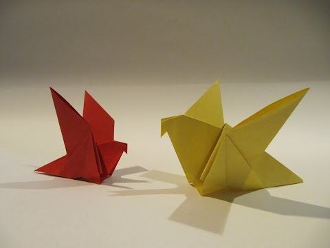 Easter Origami Bird - Easy Origami Tutorial - How to make an easy origami bird…