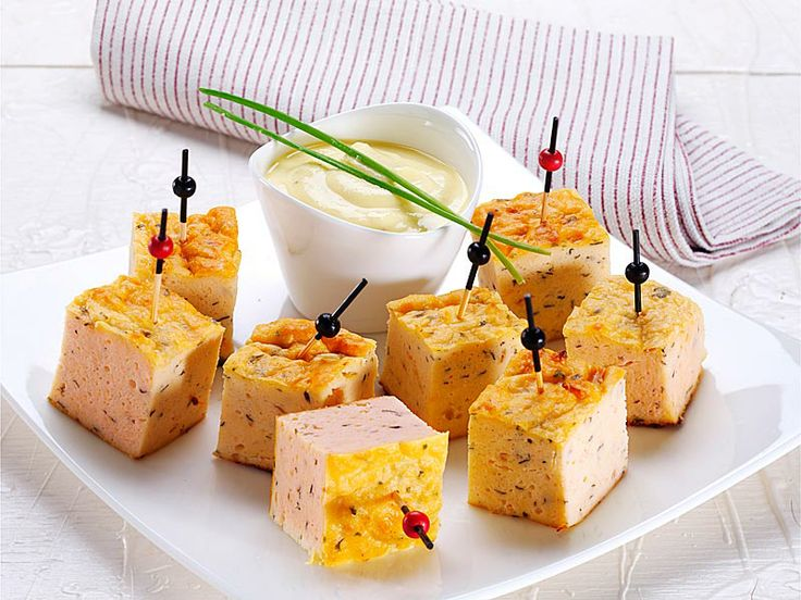 Bocconcini al salmone con zabaione allo champagne