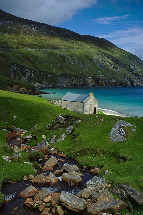 Achill Islands of the Coast of Mayo is Ireland's largest off shore island.