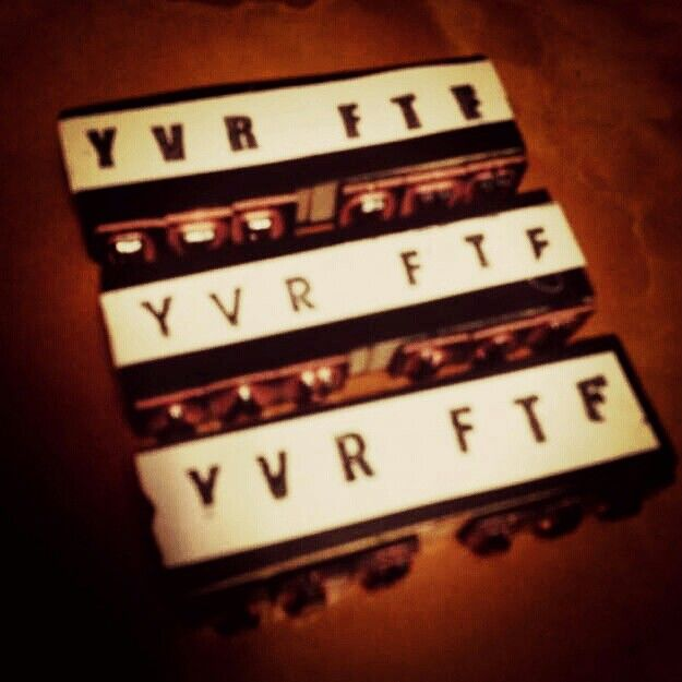 Made some $2 custom rubber stamps because skills. #behindthescenes #YVRFTF #Vancouver #electricaltape #DIY #YVR #hashtags ✏✂