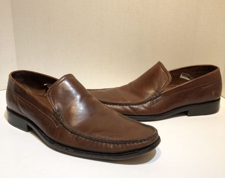 cole haan mens 8.5 brown leather Dress loafers #ColeHaan #LoafersSlipOns #Formal