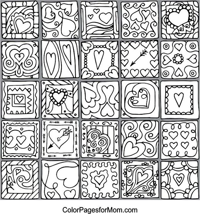 Hearts Coloring page - 13