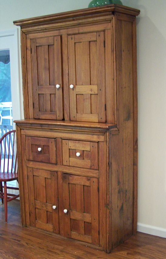 312 best pie safes cupboards old cabinets images on for Butternut kitchen cabinets