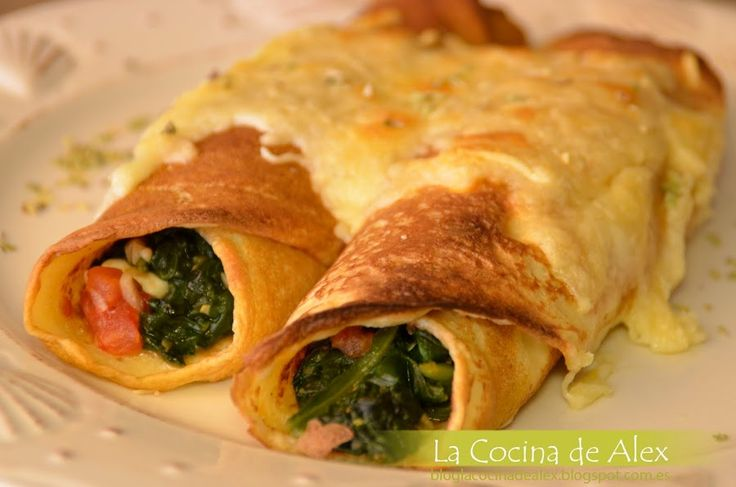 Crepes saladas de espinacas y queso fresco | Cocina