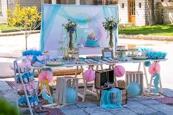 fantastic mermaid theme baptism