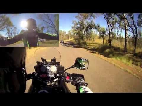 Motovlogging - riding around on a motorcycle talking into a helmet camera!