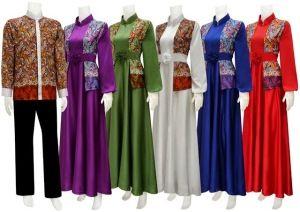 Baju batik muslim wanita modern - Model baju batik muslim wanita terbaru 2014 - Busana muslim batik wanita modern, batik muslim modern, batik muslim gaul.