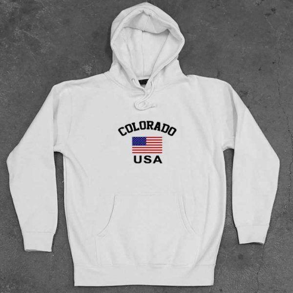 Colorado Flag USA Unisex Adult Hoodie
