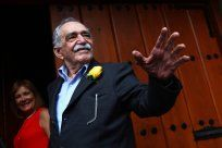 Gabriel Garcia Marquez... one of, if not THE greatest Spanish-language writer of all time. I wonder how Colombians are celebrating his life right now.