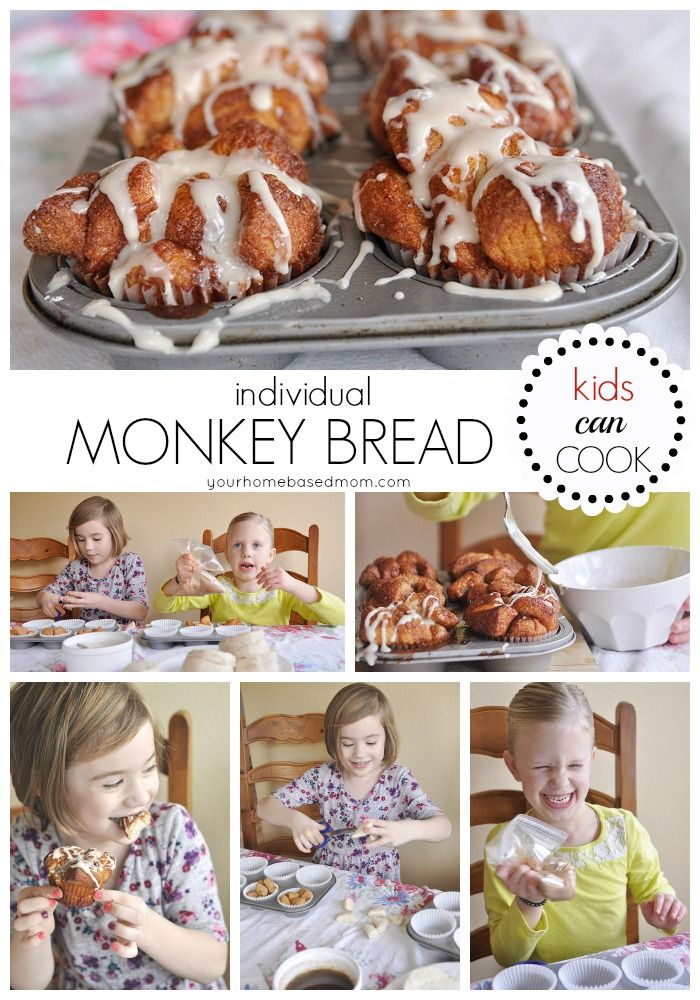 These individual monkey bread are so cute and yummy. Kid's will love making them and eating them.
