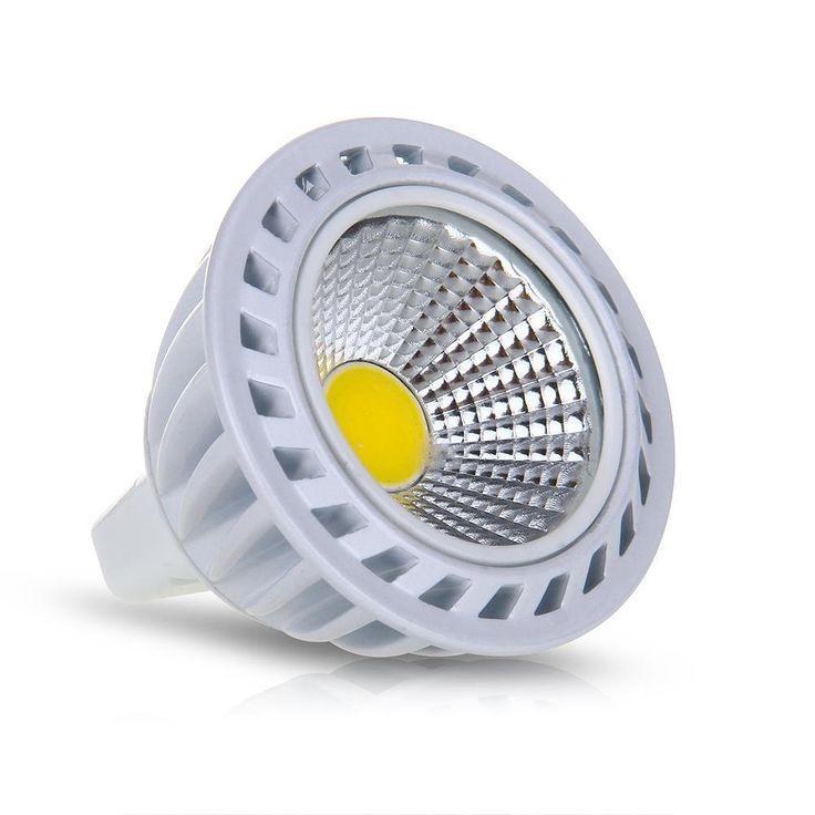 Cool HGHO GU MR W COB LED Lamp Spotlight Bulbs Light LM K