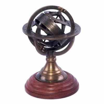 47e Sphère armillaire laiton et bois astrologie steampunk globe - Achat / Vente objet décoratif - Cdiscount