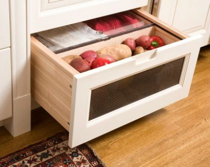 Countertop Vegetable Storage : ... Storage on Pinterest Fruits and vegetables, Storage design and
