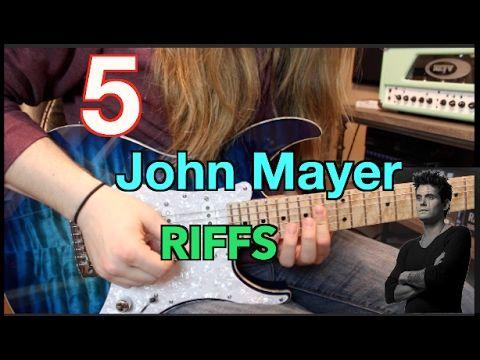 5 Killer John Mayer Guitar Riffs( With Tabs)