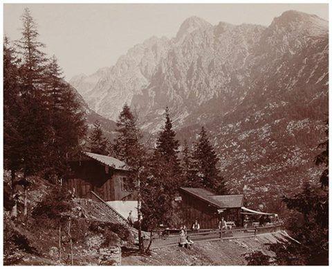 Rok 1880 - na tomto mieste dnes stojí Bílikova chata