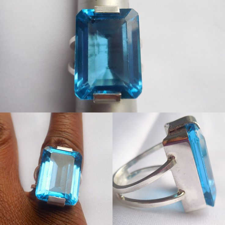 Rich Blue Topaz ring use NEXTORDER to get 10% off