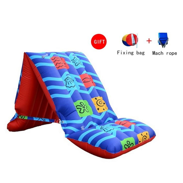 63.36$  Watch now - http://alifhf.worldwells.pw/go.php?t=32649623477 - Brand Nylon PVC Inflatable Beach Floating Row Folding Chair Swimming Mat Soft Family Inflatable Bed Sofa 63.36$