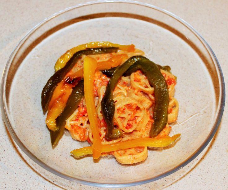 Ruote al sugo di peperoni