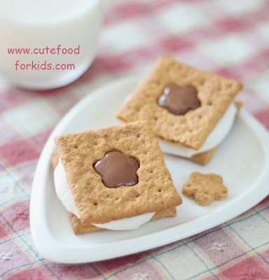Cute Food For Kids?: How to cut out shapes on graham crackersSugar Cookies, For Kids, Food, Cutest S More, Cookies Cutters, Cookie Cutters, Graham Crackers, Cut Outs, Things To Do