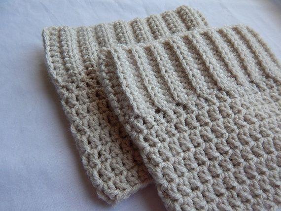 Beige Boot Cuffs Womens Crochet Boot Socks Knit Boot Toppers Fall and Winter Leg Warmers #handmade #crochet