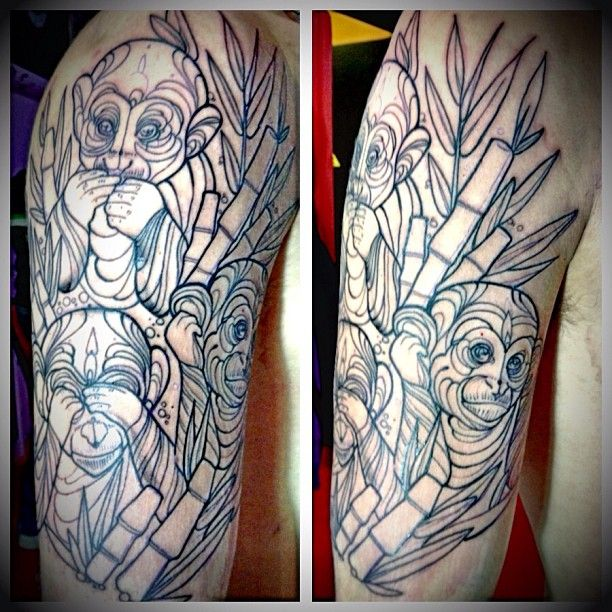 Three Monkeys Tattoo