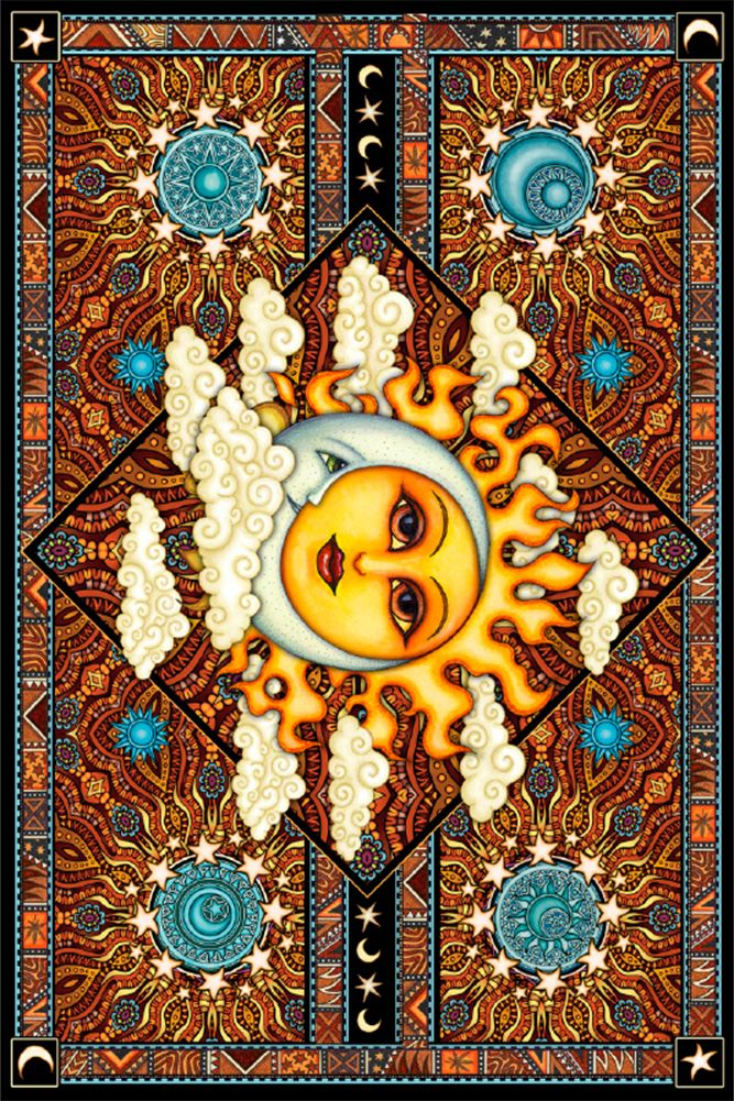 The Sun And Moon Celestial Tapestry Wall Tapestries