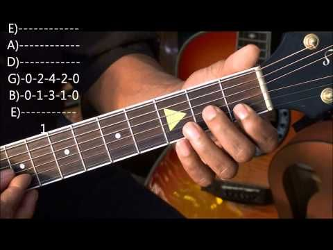how to play domino by van morrison on guitar