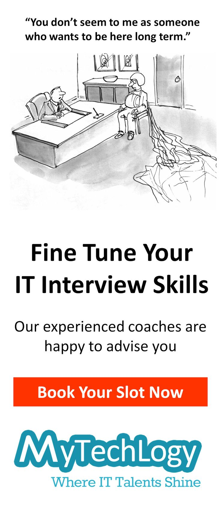 Fine tune your IT interview skills and consult for any market information about organizations within financial services & insurance industry in Singapore. Book your slot now! Visit: http://www.mytechlogy.com/IT-career-development-services/career-coaches/Sandra-Heng/ #bfsi #interview #careeradvice