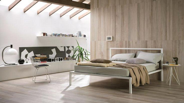 La stanza da letto reinterpreta l'atmosfera nordica