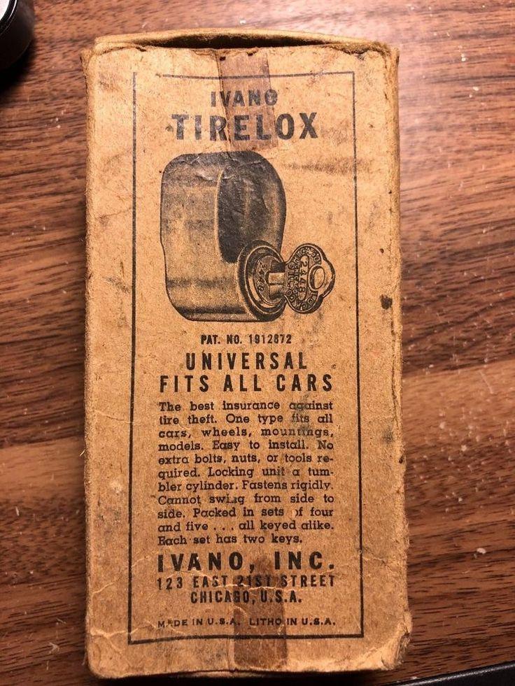 LOT OF 3 Vintage Original Auto Tire Hardware Parts nos in Box Antique  | eBay
