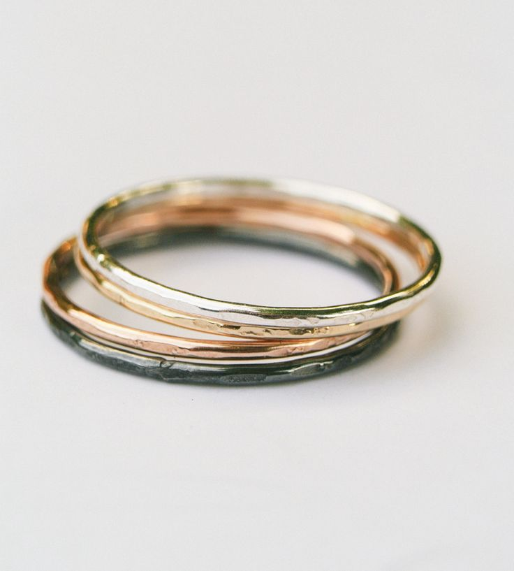 Ombre Stacking Ring Set by Silversheep Jewelry on Scoutmob