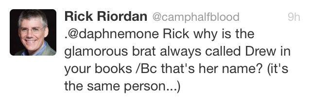 Rick Riordan tweet- I KNEW IT #Kane chronicles #HoO!!! I knew it!