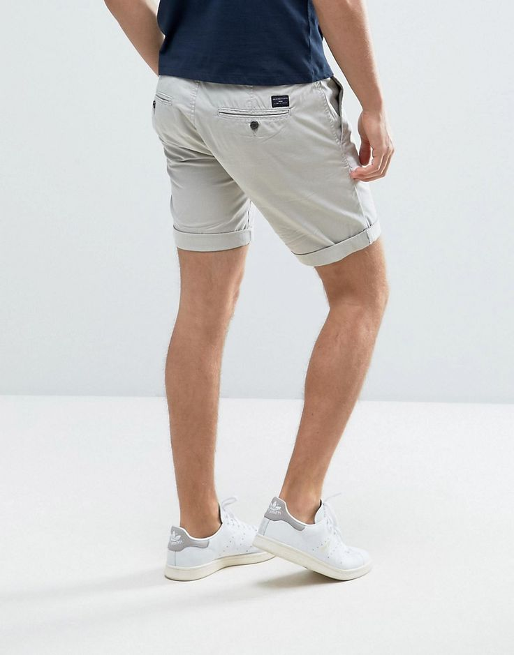 Selected Homme Slim Fit Chino Shorts with Stretch - Cream