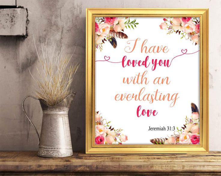 Calligraphy Print, love print, verse printable, everlasting love, Printable Wall Art, printable poster, Art Prints, Minimalist Print #wallart #posters #inspirational