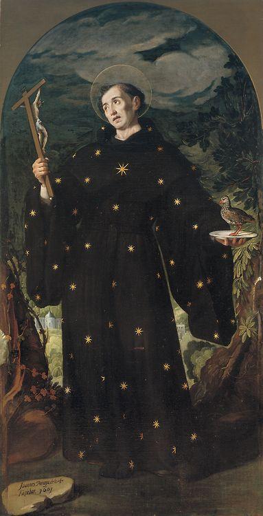 Juan Pantoja de la Cruz - San Nicolas de Tolentino; Museo del Prado, Madrid, Spain, 1601 Saint Nicholas of Tolentino is widely venerated as the patron saint of the Holy Souls in Purgatory.