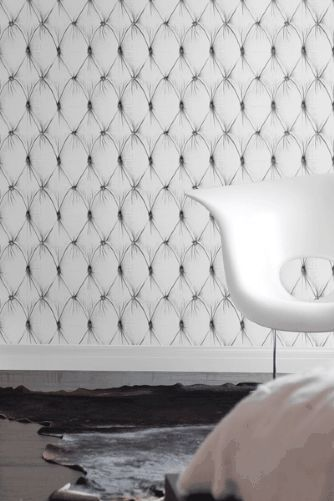 Chesterfield Button Back Wallpaper by Young & Battaglia 2.5m Panel