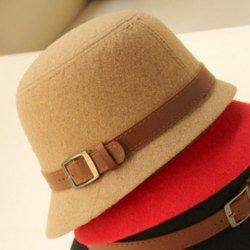 $5.94 Chic Style Belt Shape Design Women's Solid Color Bucket Hat
