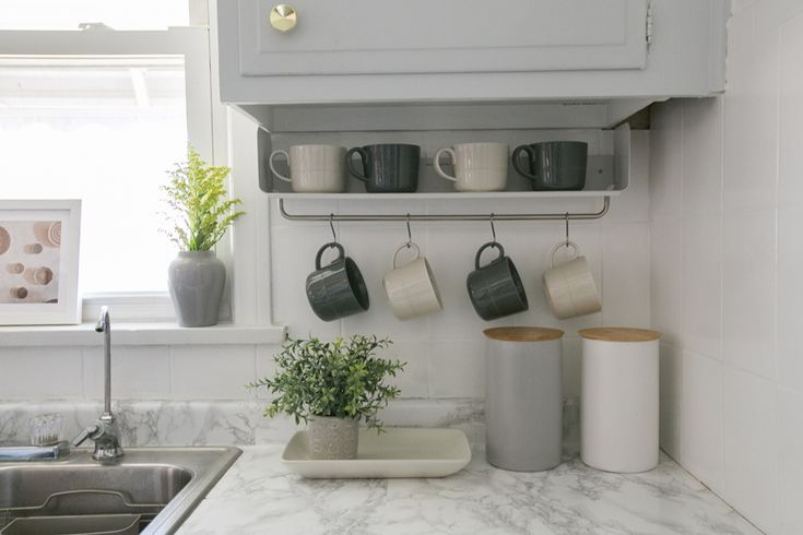 DIY Faux Marble Countertops Make A Dramatic Difference In This Chicago Kitchen Full Tour On Design*Sponge