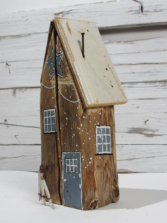 Weihnachtsdeko Vintage Shabby xmas decor christmas house handpainted decorations wood art wooden