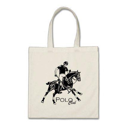 equestrian polo club tote bag - horse animal horses riding freedom